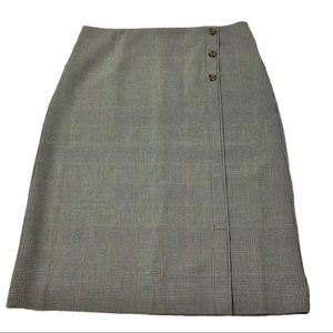 NWT Christopher & Banks Fine Plaid Skirt Size 16